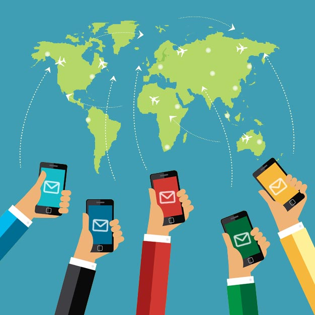É possível enviar SMS para outro país?